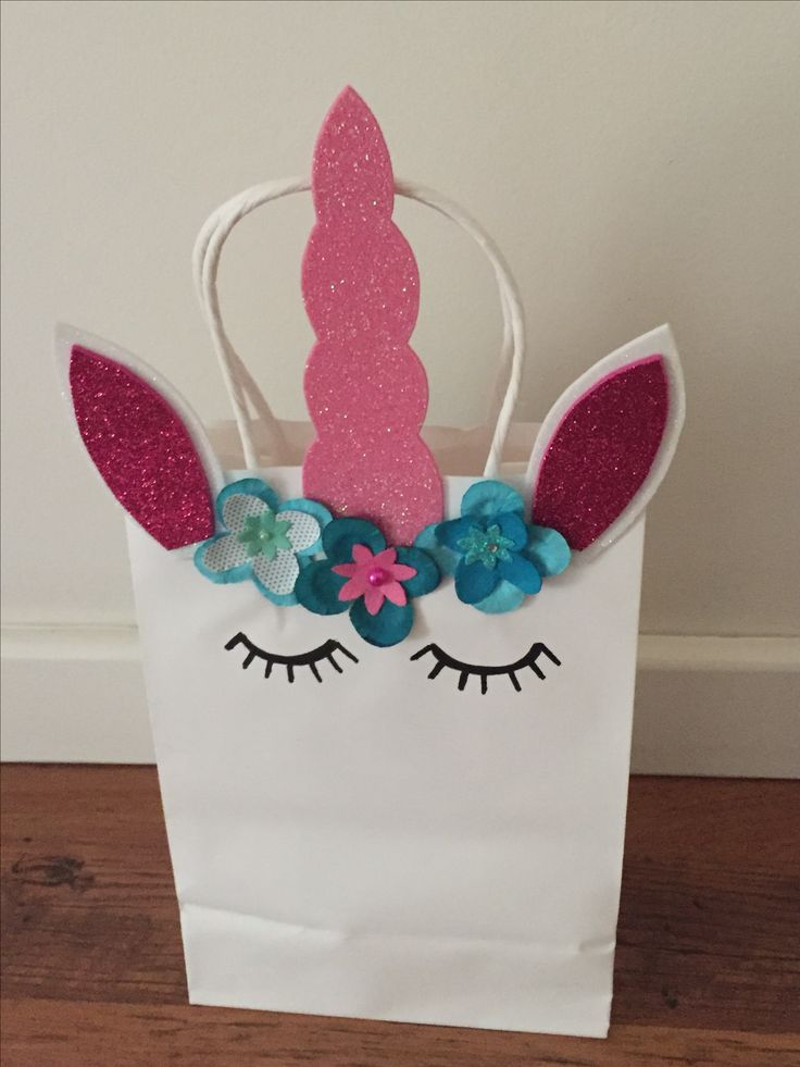 Unicorn Party Bag  Made by Mandy Clouten