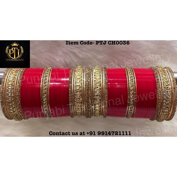 "Punjabi Traditional ""Red & Gold Kundan Wedding Churra""  Item Code - PTJ CH0036  For price please inbox with Image or WhatsApp at this number +91 9914721111 or you can email us at punjabijewellery@gmail.com #sydney #australia #america #canada #california #kuwait #dubai #london #england #india #italy #sikhwedding #bride #fashion #happy #jewellery #kundan #lehnga #love #newyork #NYC #punjabi #toronto #traditional #uk #us #usa #viah #sikhwedding"