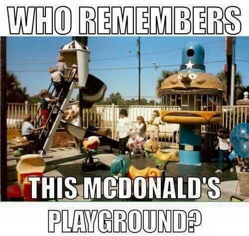 Old school Mc Donald's playground