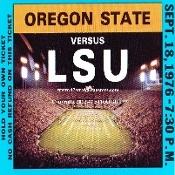 1976 Oregon State vs. LSU Football Ticket Coasters.™ Best Cyber Monday Gifts. Best Cyber Monday Gifts 2012! Best Cyber Monday football gifts! 47 STRAIGHT™   http://www.bestcybermondaygifts.com/ Best Cyber Monday Gifts! #47straight #bestcybermondaygifts #cybermonday