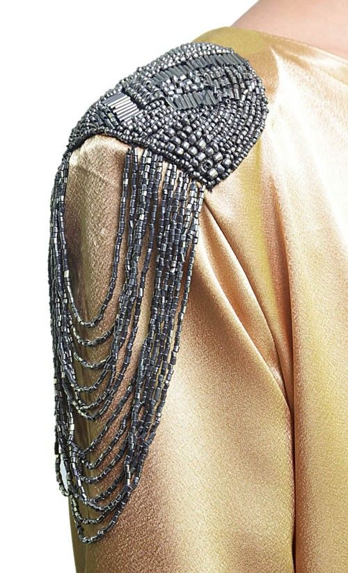 gold maxi gowns | Shoulder Patch Maxi Dress in Gold | FashionValet