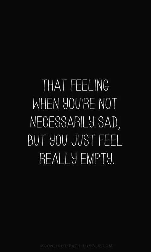 Completely empty yet expected to be fine with things that aren't ok