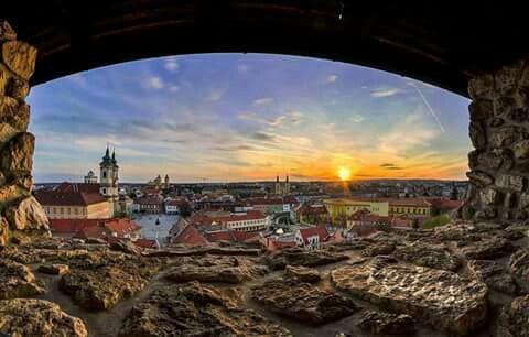 Eger-látkép a várból. Fotó:  Bodnár Dávid