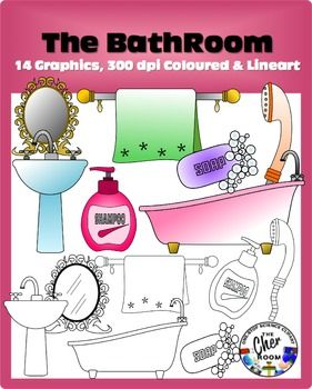 Bathroom Clipart My Home Series I Clip Art And Literacy
