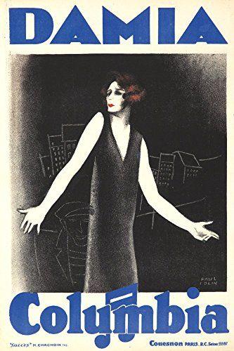 Damia Vintage Poster artist Colin Paul France c 1930 24x36