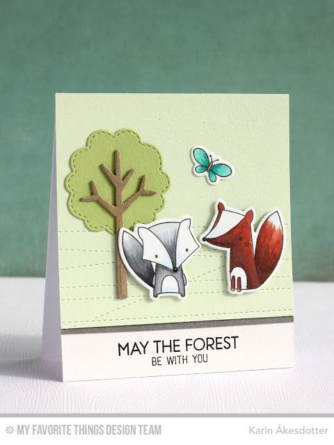 Stitched Strip Die-namics, Forest Friends, Forest Friends Die-namics, Tree-mendous Die-namics - Karin Åkesdotter #mftstamps