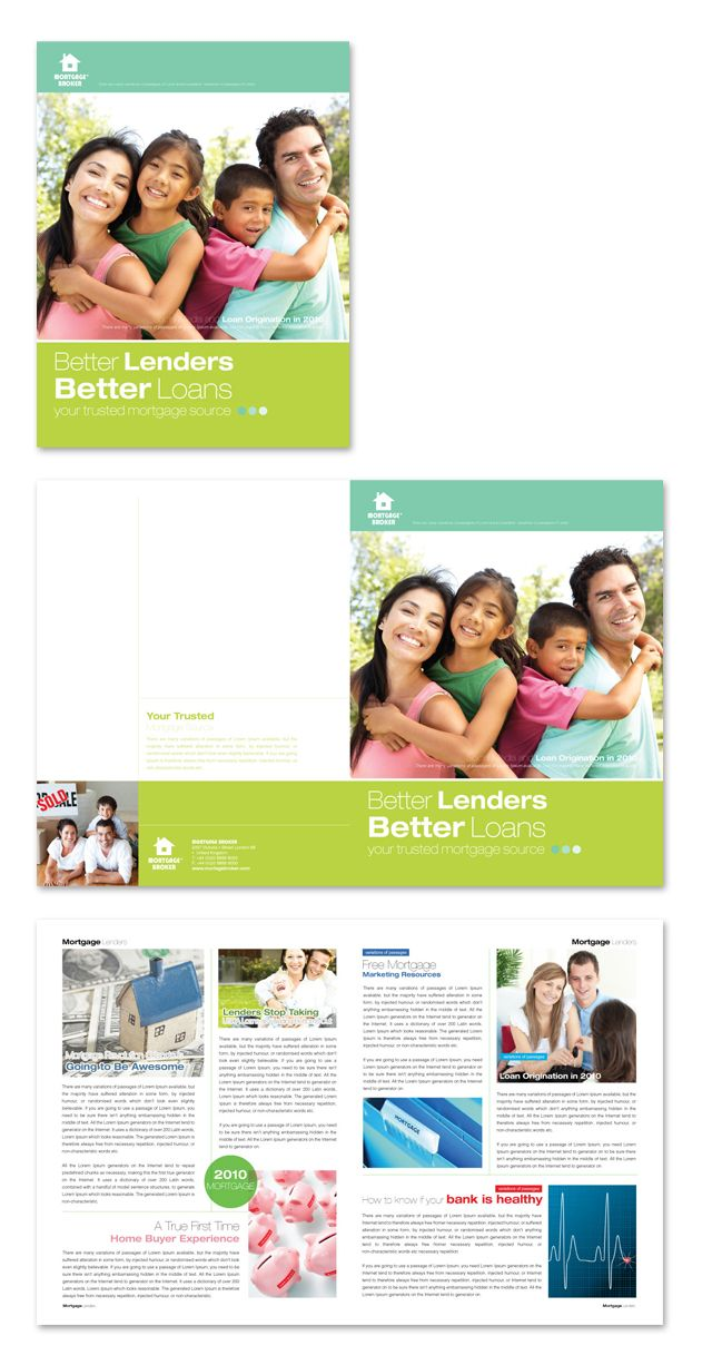 751 best Creative Brochure Templates images on Pinterest - mortgage templates