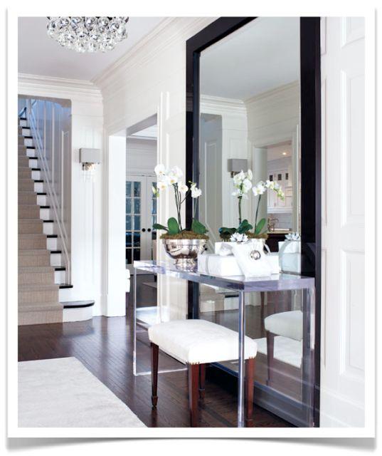 Decoração - Espelho e Aparador - 20 Ideias - Cores da Casa