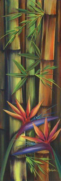 Художницa #Nadine_Ramelb Олив Синиор БАМБУК Бамбук гордится собой — он владеет искусством жить долго...