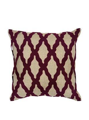 62% OFF Villa Home Intrigue Pillow, Burgundy