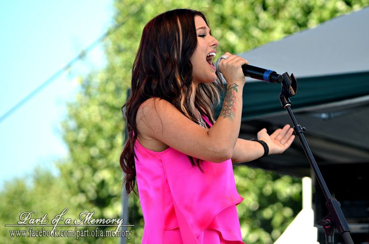 Casadee Pope performing live at the 2013 Brickyard 400's Brickfest Concert.