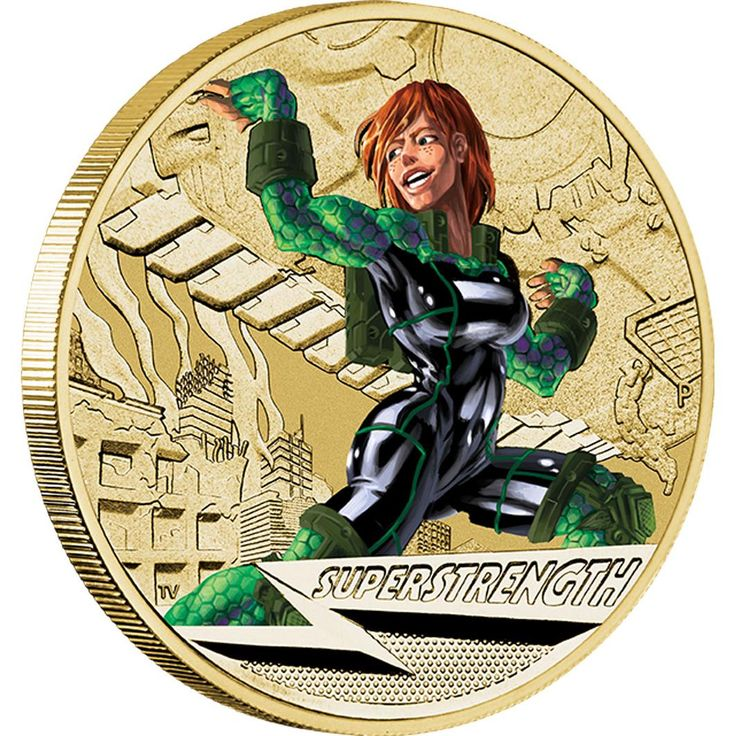 Young Collectors Super Powers – Super Strength 2014 $1 Coin in Card