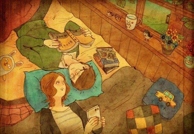 """""""Love is"""" a série da ilustradora Puuung retrata o cotidiano dos casais"""