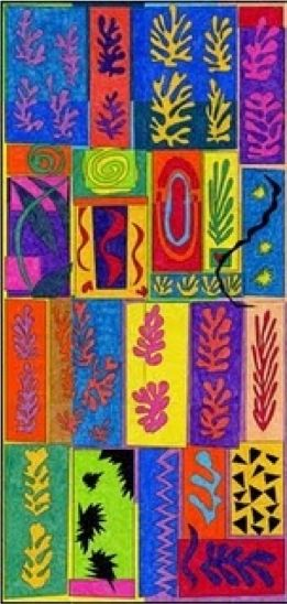 In this lesson students will work in small groups to create a 3' x 6' mini wall murals. Students will work together using saturated colors, organic shapes, and positive and space to create a vibra...