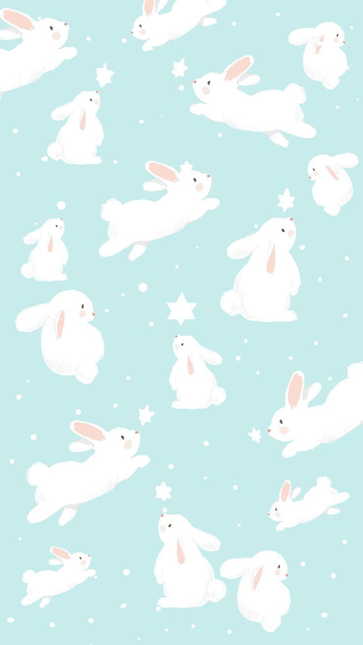 Blue Easter Bunny Wallpaper Von Gocase Cielo