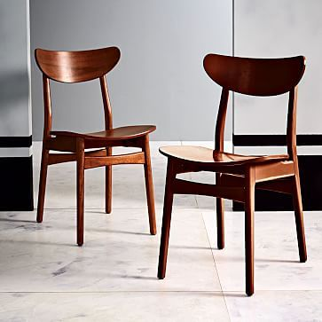 Classic Café Dining Chair - Walnut #westelm