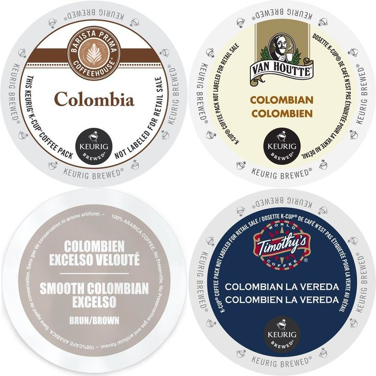 Colombia Coffee K-Cup Variety Pack, 96 Count Sampler: Barista Prima Colombia, Van Houtte Colombian Medium Coffee, Faro Smooth Colombian, and Timothy's Colombian La Vereda, Keurig 2.0 K-Cup Assortment > Save this wonderfull product : K Cups