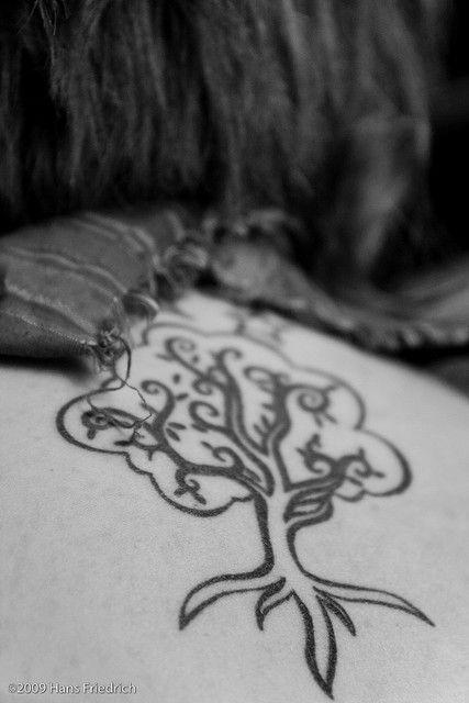 pretty tree tattoo