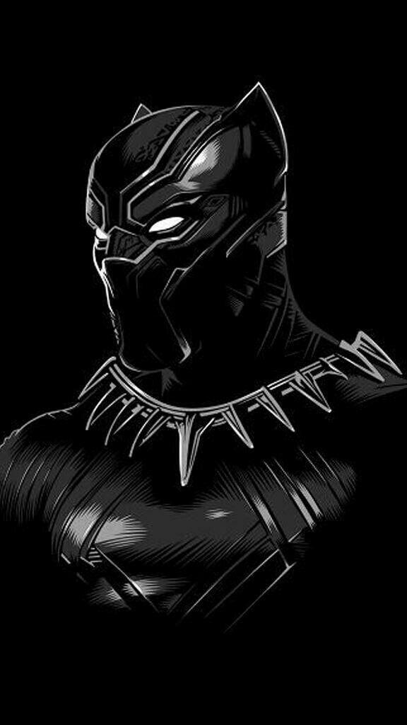 Black Panther Classic Suit Iphone Wallpaper Games Pahlawan Marvel Pahlawan Super Lukisan Galaksi