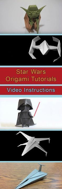 Star Wars Origami Tutorials Video Instructions                                                                                                                                                                                 More