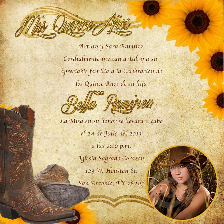 25 Best Ideas About Western Invitations On Pinterest