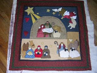 Village Quilts: Nativity Wall Hanging