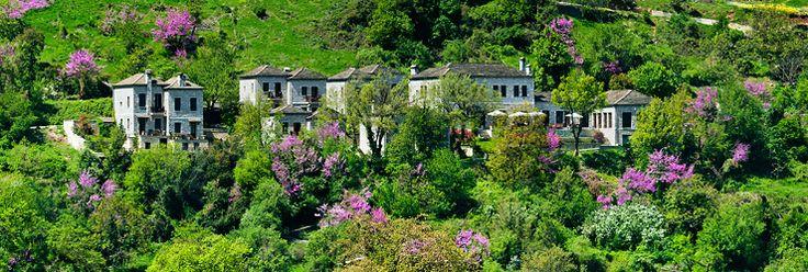 Spring time in Aristi mountain resort.