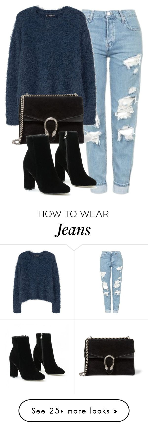 """""""Untitled #6172"""" by laurenmboot on Polyvore featuring Topshop, MANGO and Gucci"""