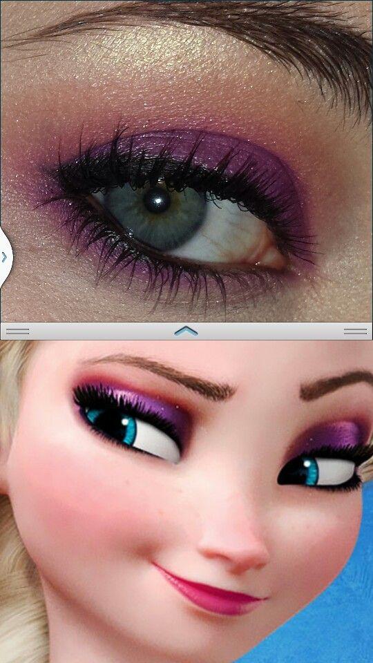 Elsa makeup from Disney movie FrozenDisney Makeup, Frozen Makeup, Halloween Costumes, Halloween Makeup, Disney Eye Makeup, Elsa Eye, Blue Eye, Elsa Makeup Kid, Disney Movie