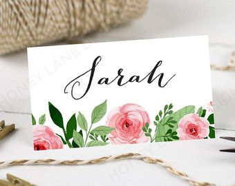 Personalised Printable Wedding Place CardsName Cards