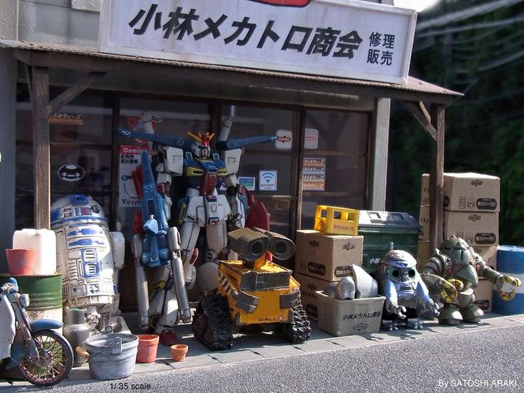 1/35 Scale Used Robot Shop By Satoshi Araki | Gundam Century