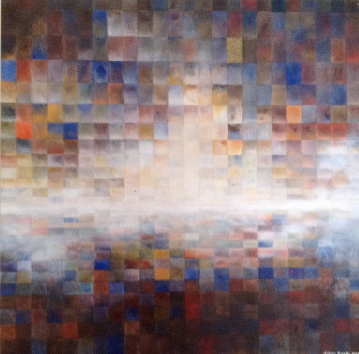 Patrick Michel.          Untitled.          2011 Oil on board.                                48 x 48