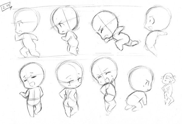 Cute Character Design Tutorial : Chibi character design references キャラクターデザイン find