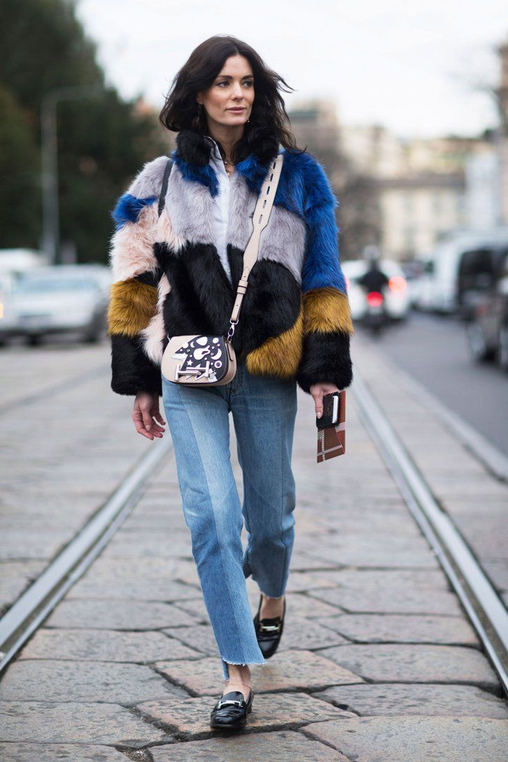 Pin for Later: 50 Styling Lessons to Steal From Fashion Month's Best Dressed Let a bold coat lend personality to your basics.