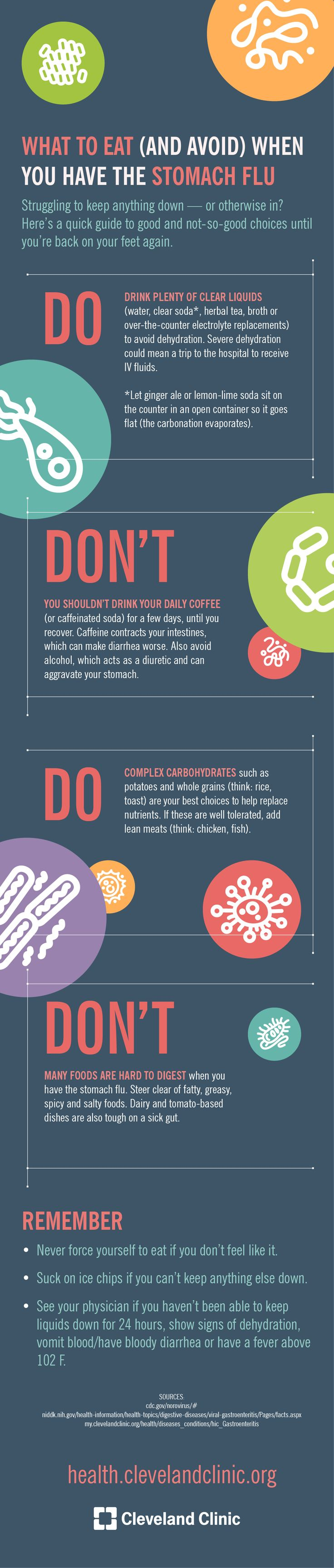 What to Eat (and Avoid) When You Have the Stomach Flu (Infographic)