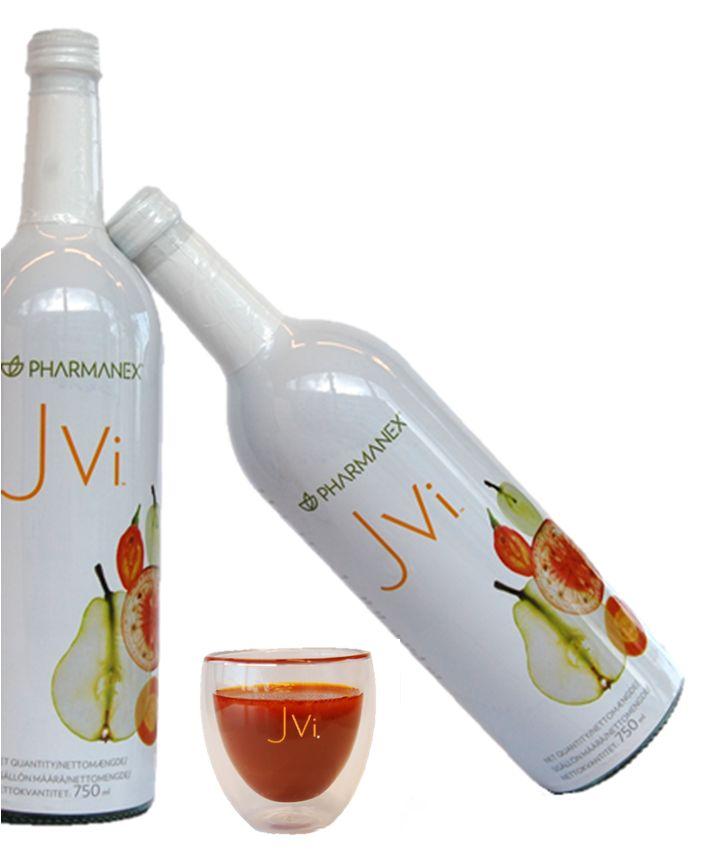 """Voedingsstofrijk drankje 'Jvi' Healthdrink Kies voor """"joie de vivre"""" en krijg de smaak van het leven te pakken met dit heerlijke drankje dat 12 geweldige vruchten en groenten bevat. Het is rijk aan vitaminen en mineralen, zoals vitamine C en koper, en helpt het hele gezin gezonder te eten. Info@fabulousbody.nl"""