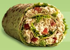Tuna Salad Wrap - Nutritional Facts per serving  Calories:     238  Protein:	 20 g  Sodium:	 534 mg  Fat:	 6 g  Carbohydrates:	 24 g  Exchanges:	 2 Low-Fat Meat; 1 Bread/Starch; 1-1/2 Vegetable