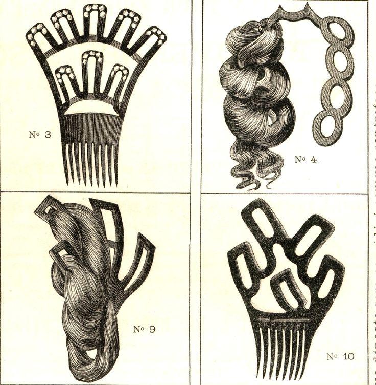 Revue de la Coiffure 1878 Hair dressing combs