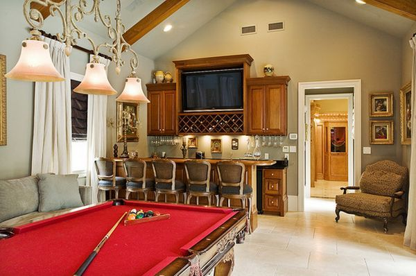 Game and entertainment room with funny design ideas