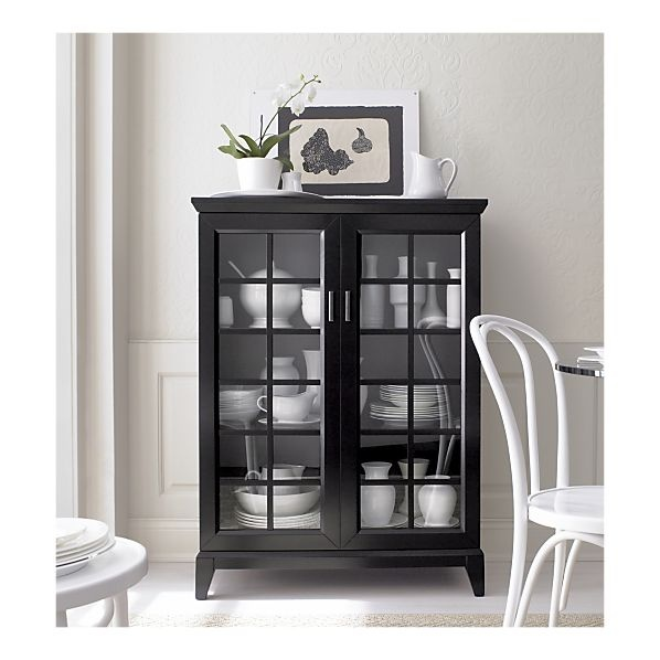 "Paterson Black 36.5"" Two Door Cabinet in Storage Cabinets 