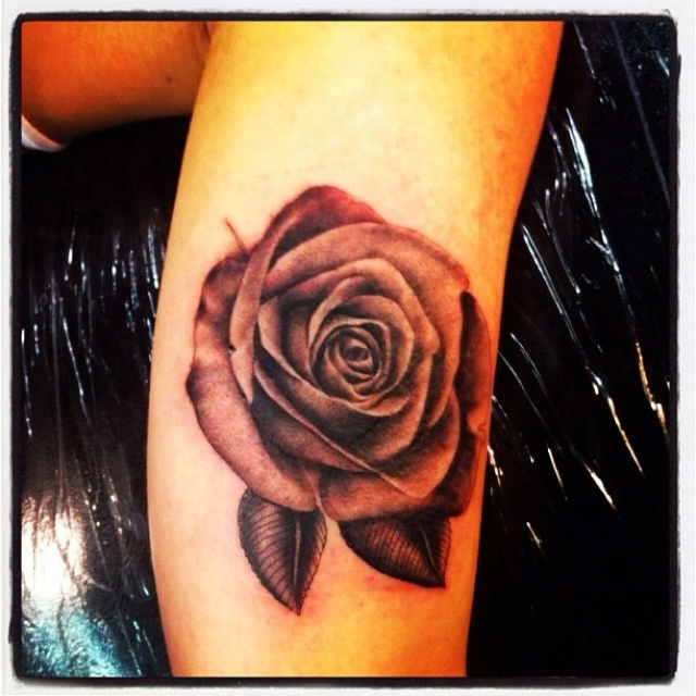 Vintage rose tattoo    as soon as i saw this, i wanted it. its so pretty
