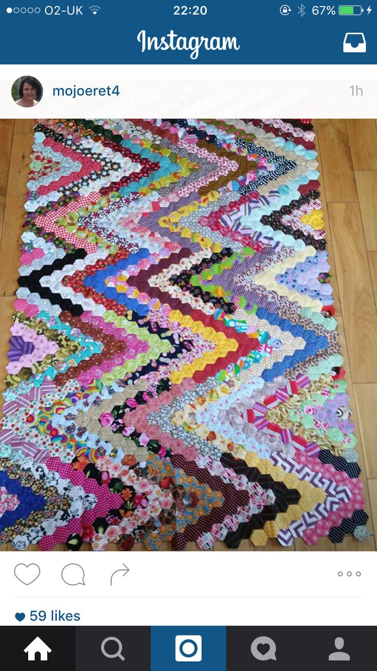 1461 Best Hexie Quilts Images On Pinterest Hexagon