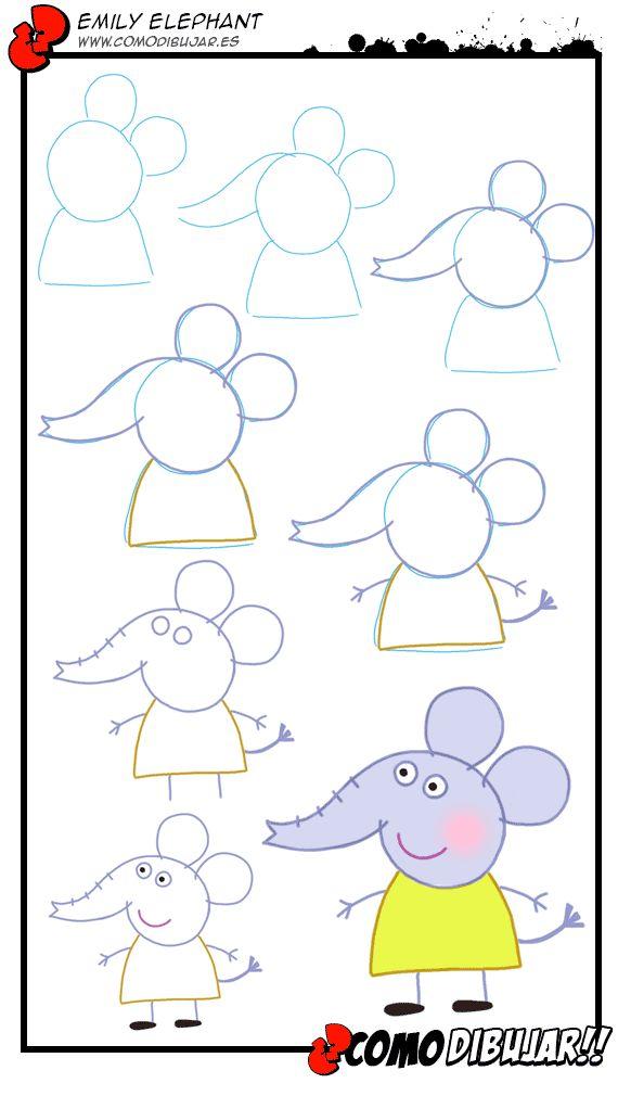 Aprendemos a dibujar a Emily Elephant: http://www.comodibujar.es/tutoriales-dibujo/como-dibujar-a-emily-elephant/