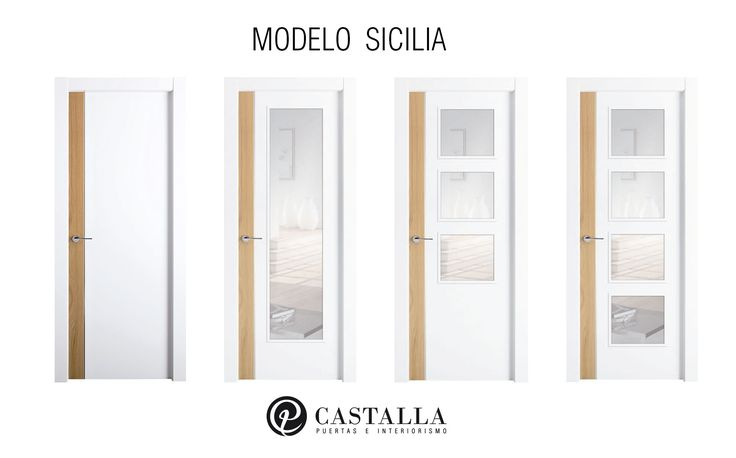 Puertas con cristal | Modelo Sicilia | Serie Exclusive | Puertas de interior | Puertas Castalla