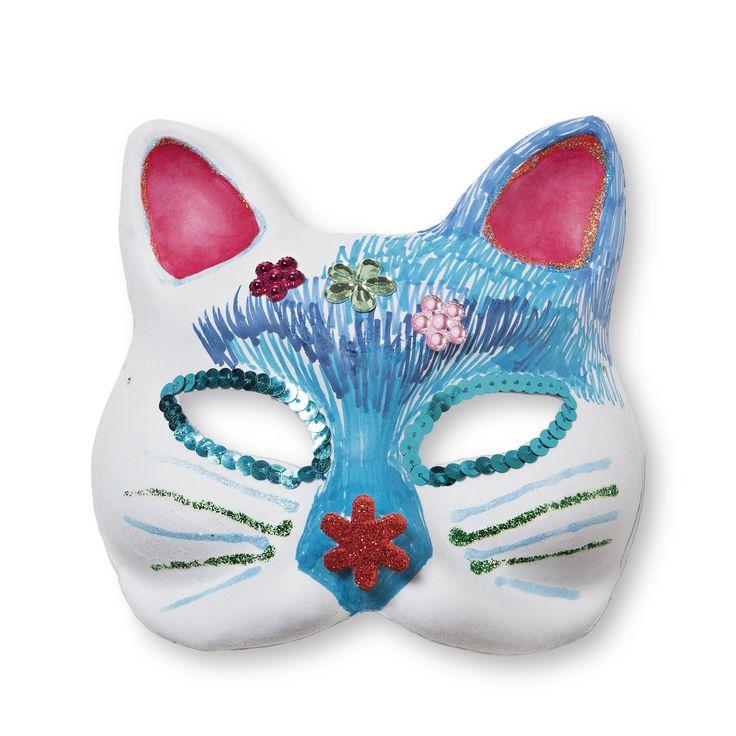 Kocia maska do przyozdobienia samemu. Stań się takim kotem jakiego sobie tylko wymarzysz! #tigerpolska #tigerstores #autumn #jesień #październik #tigernews #tigernowości #nowości #news #october #kot #cat #maska #mask #diytiger #zróbtosam #zrobtosam #kotek #kitty