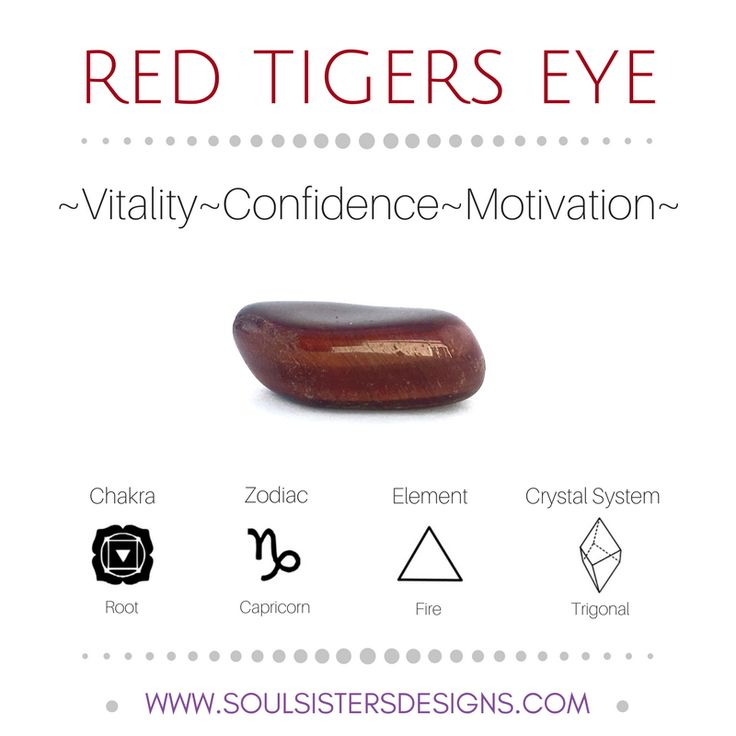 Metaphysical Healing Properties of Red Tigers Eye, including associated Chakra, Zodiac and Element, along with Crystal System/Lattice to assist you in setting up a Crystal Grid. Go to https:/wwwsoulsistersdesigns.com to learn more!