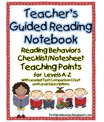 FREE! Guided Reading notebook for all levels :)