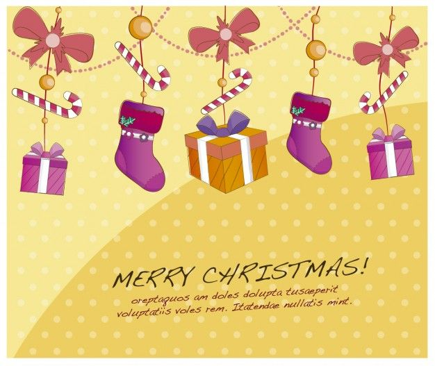 Free vector hanging gifts #33836