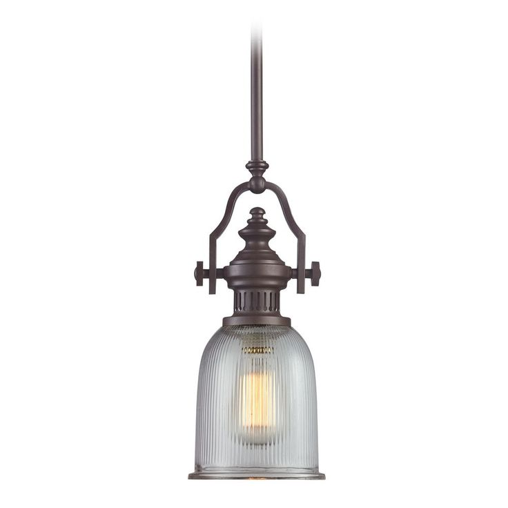minipendant light with clear glass