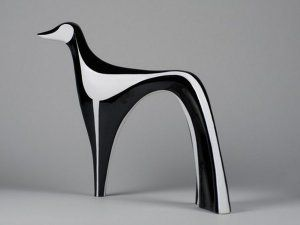 so arty! Greyhound figurine by Cmielow. polish design